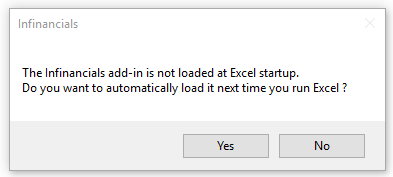 Infront Excel Add-in
