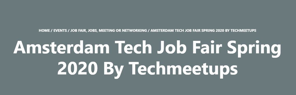 Amsterdam Tech Job Fair